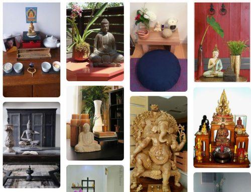 Cómo crear un altar para practicar yoga en casa